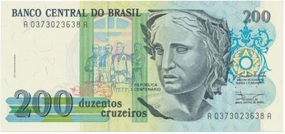 Brazílie, 200 Cruzeiros (1990), P.229