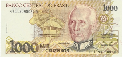 Brazílie, 1000 Cruzeiros (1990), P.231b