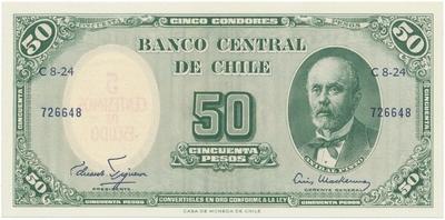 Chile, 5 Centesimos (1960~1961), P.126