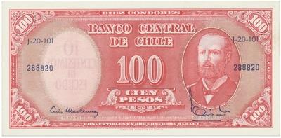 Chile, 10 Centesimos (1960~1961), P.127