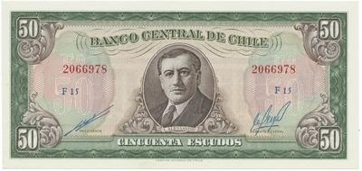 Chile, 50 Escudos (1962~1975), P.140b