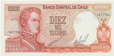 Chile, 10.000 Escudos (1967~1976), P.148