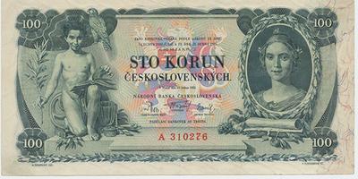 Československo, 100 Koruna 1931, série A, Baj.25a