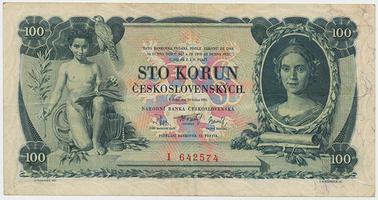 Československo, 100 Koruna 1931, série I, neperforovaná, Baj.25a