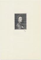 Protektorát Čechy a Morava, 500 K 1942, černotisk rytiny potrétu Petra Brandla, Hej.37, BHK.35