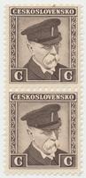 Československo, Kolek C - hnědý, tištěný za války v Anglii a původně určený ke kolkování bankovek