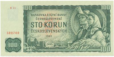 Československo, 100 Koruna 1961, série R, Baj.98b3