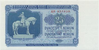 Československo, 25 Koruna 1953, tisk Praha, série KP, Hej.102b, BHK.90b
