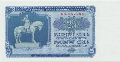 Československo, 25 Koruna 1953, tisk Praha, série NH, Hej.102b, BHK.90b