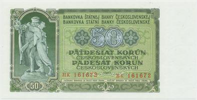 Československo, 50 Koruna 1953, tisk Praha, série HK, Hej.103b, BHK.91b