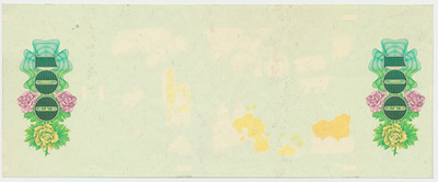 Československo, 100 Koruna 1989, Baj.106, výřez z nedokončeného archu