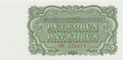 Československo, 5 Koruna 1961, série AP, Hej.108a, BHK.96