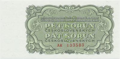 Československo, 5 Koruna 1961, série AR, Hej.108a, BHK.96