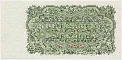 Československo, 5 Koruna 1961, série AT, Hej.108a, BHK.96