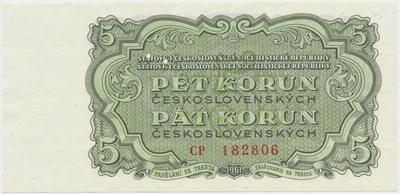 Československo, 5 Koruna 1961, série CP, Hej.108a.S1, BHK.96, perforace 3 m.d.