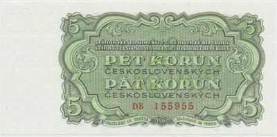 Československo, 5 Koruna 1961, série DB, Hej.108a, BHK.96