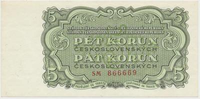 Československo, 5 Koruna 1961, série SM, Hej.108a, BHK.96