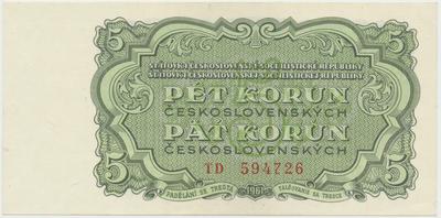Československo, 5 Koruna 1961, série TD, Hej.108a, BHK.96