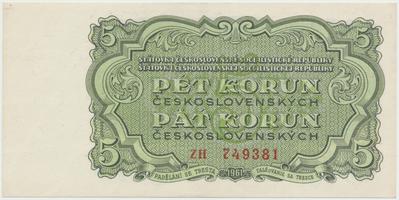 Československo, 5 Koruna 1961, série ZH, Hej.108a, BHK.96