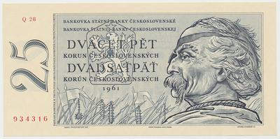Československo, 25 Koruna 1961, Hej.109b, BHK.97b