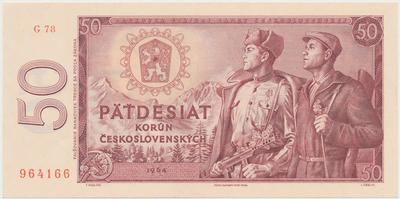 Československo, 50 Koruna 1964, série G, Hej.112cG, BHK.99c