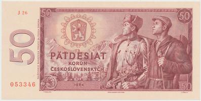 Československo, 50 Koruna 1964, série J, Hej.112cJ, BHK.99c