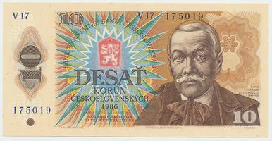 Československo, 10 Koruna 1986, série V, Baj.103