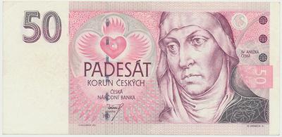 Česká republika, 50 Koruna 1993, série A (tisk Anglie), Baj.CZ4a