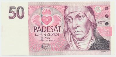 Česká republika, 50 Koruna 1993, série A (tisk Anglie), Hej.CZ7a1, BHK.CZ4a