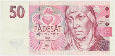 Česká republika, 50 Koruna 1994, série B, Baj.CZ11