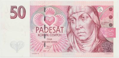 Česká republika, 50 Koruna 1997, série E, Hej.CZ21aE, BHK.CZ17