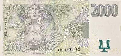 Česká republika, 2000 Koruna 2007, série F 01, Hej.CZ27a.F, BHK.CZ21