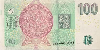 Česká republika, 100 Koruna 2018, mimořádné číslo J 33  000500, Hej.CZ31aJ