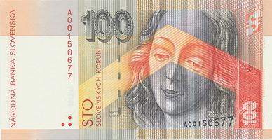 100 Koruna / 1. 9. 1993, náhradní série A, Hej.SK9a2, BHK.SK8a1A    N/UNC