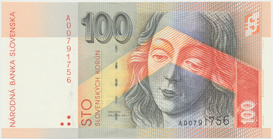 100 Koruna / 1. 7. 1999, náhradní série A, Hej.SK26a2, BHK.SK8dA    N/UNC