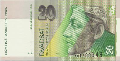 20 Koruna / 15. 9. 2004, náhradní série A, Hej.SK42a2, BHK.SK7fA   N/UNC