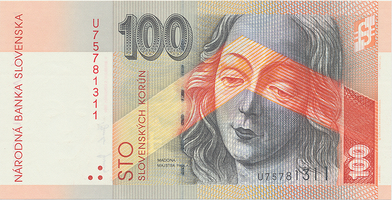 100 Koruna / 5. 11. 2004, série U, Hej.SK43a1U, BHK.SK8fU   N/UNC