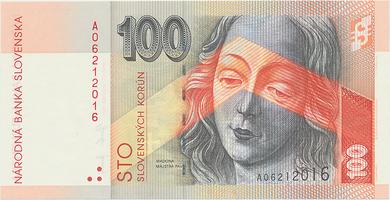 100 Koruna / 5. 11. 2004, náhradní série A, Hej.SK43a2, BHK.SK8fA   N/UNC