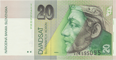 20 Koruna / 20. 10. 2006, série V, Hej.SK48a1V, BHK.SK7gV   N/UNC