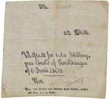 Dánsko, 12 Skilling 1809, P.A41