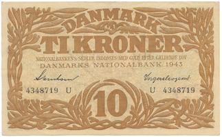 Dánsko, 10 Kroner 1943, P.31o