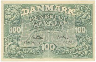 Dánsko, 100 Kroner 1960, P.39u