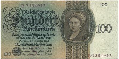 100 RM/1924, Baj.D7   1-/XF-