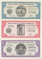 Chile, 10, 25, 50 Centavos (1961), P.85, 87, 89, 3 ks