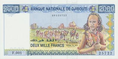Džibútí, 2000 Francs (1997), P.40