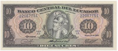 Ekvádor, 10 Sucres 1980, P.114b