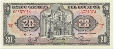 Ekvádor, 500 Sucres 1988, P.124A