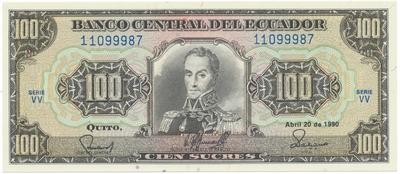Ekvádor, 100 Sucres 1990, P.123