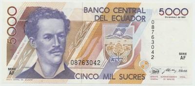 Ekvádor, 5000 Sucres 1987, P.126