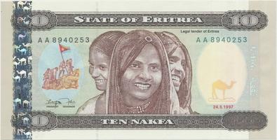 Eritrea, 10 Nakfa 1997, P.3